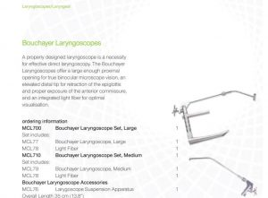 Lateral Medical Microfrance ENT Instruments Additional Resources - Bouchayer Laryngeal Brouchers PDF