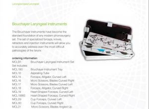 Lateral Medical Microfrance ENT Instruments Additional Resources - Bouchayer Laryngeal Instruments PDFs