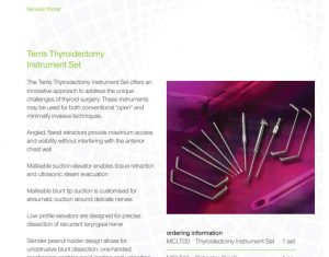 Lateral Medical Microfrance ENT Instruments Additional Resources - Terris Thyroidectomy PDF