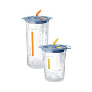 Lateral Medical Microfrance Surgical Airway Suction - Disposable Systems Fluid Collection Bottles Clear 2 Sizes 15L 25L