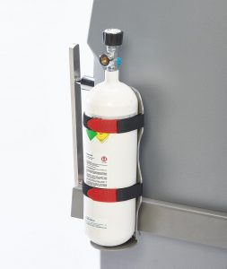 Lateral Medical Multiline Next AC Patient Transfer Equipment Optional Accessories - Oxygen Bottle and Holder