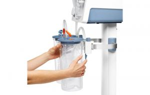 Lateral Medical Surgical Airway Suction - Disposable Collection System Easy to Setup Image Locking Clasp